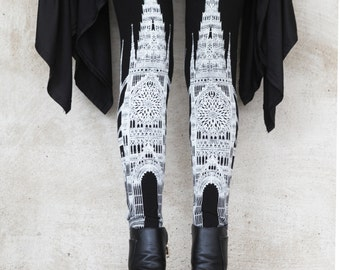 new CATHEDRAL legging- womens bottoms - leggings - printed leggings