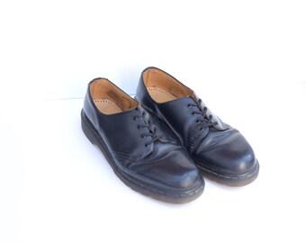 Vintage Dr. Martens Black Leather Oxfords Mens UK 13, US 14