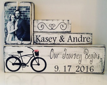 bride to groom gift for couple  groom to bride gift Custom Wedding Decor Unique Wedding Gift wedding keepsake photo wood block custom sign