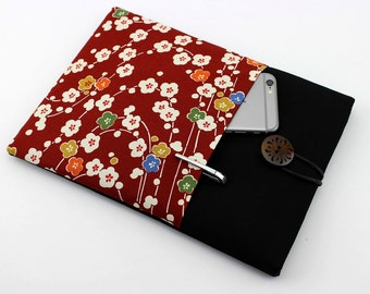 Kindle Oasis Cover Gift Idea for Her iPad Pro 8.9 Sleeve Plum Blossoms Red