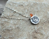 Reserved for J: 2nd Chakra Necklace on Leather