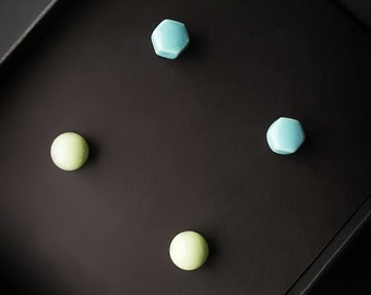 Stud Earrings Turquoise, Turquoise Earrings, Neon Yellow Earrings, Stud Earrings Set, Stud Set, Ear Studs, Minimal Earrings, Summer Earrings