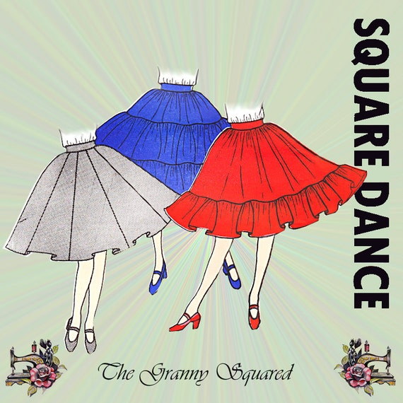 Square Dance Skirt Pattern In Three Styles From C Amp C Original