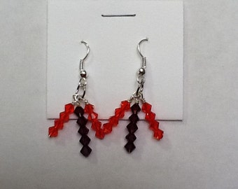Multi-colored Bead Earrings
