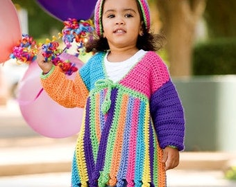Little Girls Jacket and Hat Crochet Pattern