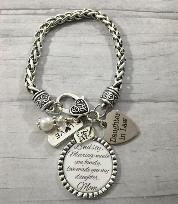 LAW Bracelet, Future Daughter in Law GIFT, Brides Gift, Bridal Shower ...