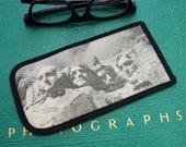 Eyeglass Case with Vintage Photo: Mount Rushmore, c. 1940