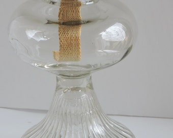 Vintage Glass Kerosene/Oil Lamp,Home Decor,Lighting,Country Chic,Rustic