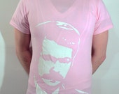 Ron Swanson ICON T-Shirt - Light Pink, Size S
