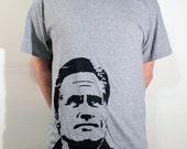 Mitt Romney ICON T-Shirt - Grey Heather, Size XL