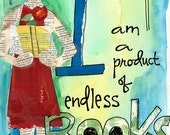 Product of Endless Books Illustrated Watercolor Print