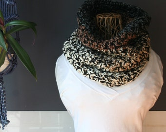 Crochet Cowl,Cowl Scarf,Knit Cowl,Loop Scarf,Chunky Knit,Crochet Scarf,Knit Scarf,Neck Scarf,Neck Warmer,Neck Wrap,Brown,Black,Grey,Gift