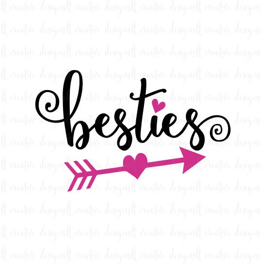 besties svg best friends svg friends svg heart svg bff Free Cricut Cheat Sheets Free SVG Files for Vinyl
