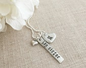 Big Sister Pewter Necklace . Initial Necklace . Pewter Heart . Baby Shower Gifts . New Baby Gifts . Sibling Gifts . Personalized Jewelry