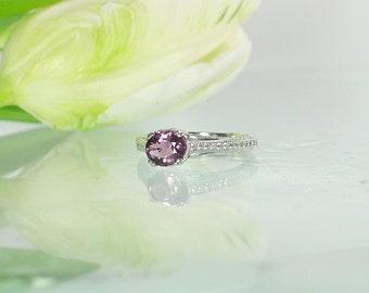 Spinel, Natural Spinel, Red Spinel, Spinel Silver Ring, Pink Gemstone Ring, Natural Ruby Alternative, Gemstone Ring, Silver Spinel Ring,