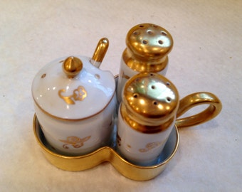 Beautiful Vintage Condiment Set
