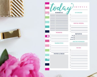 Small Business Planner, Daily Planner Inserts, Printable Hourly Planner, Daily Business Planner, Daily Schedule Planner, Half Size Planner