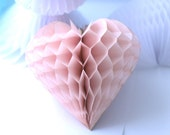 Valetine decoration - heart shaped honeycomb 25 cm  custom color / hanging party / decorations / birthday decorations