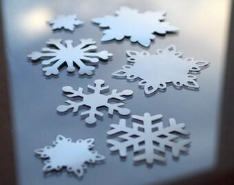 Batch of 7 Assorted Snowflakes Photo Prop Frozen Ornament Snowflake Christmas Decor