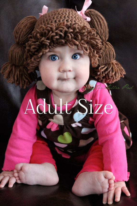 Cabbage patch kid hat cabbage patch wig cabbage by thelilliepad for Cabbage patch costumes