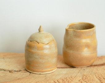 Cream and Sugar Set / Ceramic