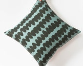 Graphic Pillow Cover - Blue Throw Pillow - Modern Decorative Pillow - Contemporary Home Decor