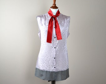 Silk tunic, silk shirt, silk blouse,womens tunics,long shirts, long blouse, women's blouses, silk tank top, shirt tunic, color block shirt
