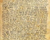 The Allman Brothers Band Lyrics and Quotes - 8x10 handdrawn and handlettered print on antiqued paper rock music lyrics