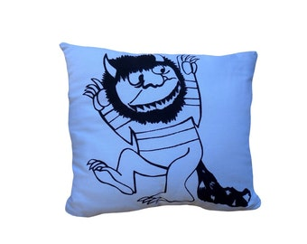 Carol Where The Wild THings Are cushion
