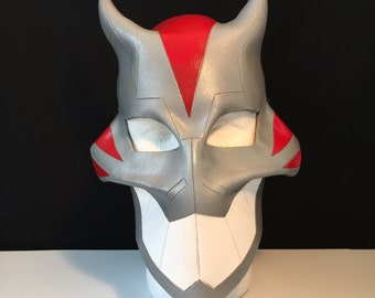 CHESIRE Cat Mask - YOUNG JUSTICE Cosplay Mask larp mask Comicon mask Cat Mask Halloween Mask Animal mask Masquerade Gray mask