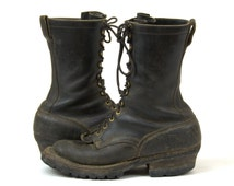 Vintage Packer Boots Whites Spokane Smokejumper Lineman Motorcycle Lace Up Work Boots 10.5 D Mens