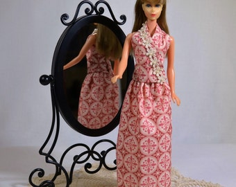 Mod Barbie Retro 60s 70s Halter and Skirt Outfit Clothes