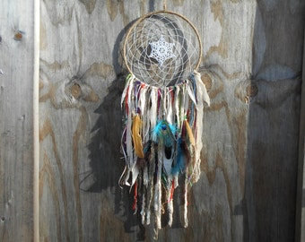 Large Gypsy Dollie Bohemian Style Dream Catcher Native Wall Hanging Decor #485