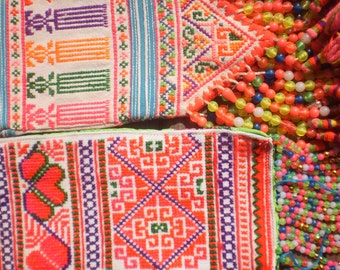 Embroidered Textile Tribal  Panel By The Hmong Hilltribe People