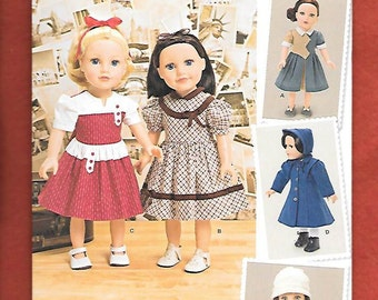 "Simplicity 1245 Sewing Pattern To Make A Wardrobe For Your 18"" Doll Such As American Girl, NEW/UNCUT"