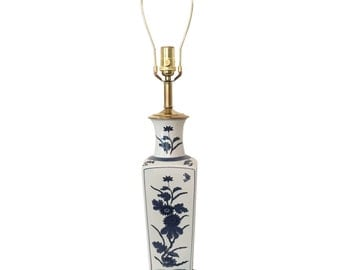 Vintage Blue and White Chinoiserie Table Lamp