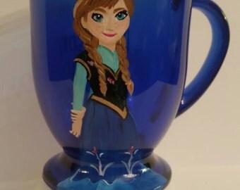 Anna Elsa Frozen coffee mug Hand Painted