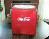 Vintage Coca Cola Cooler Ice Chest 1950s
