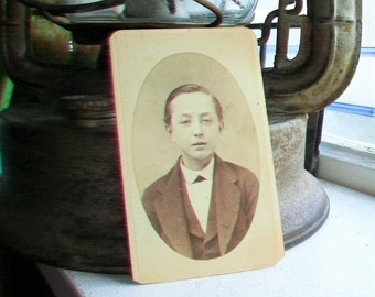 Victorian Photograph Antique Cabinet Card 1800s Boy