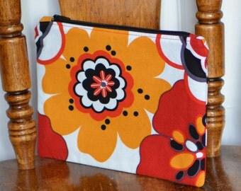 Zipper Pouch Makeup Bag Cosmetic Bag Toiletry Bag Coin Purse All Purpose Pouch Floral Zipper Pouch Clutch Pencil Case Gadget Cellphone Bag