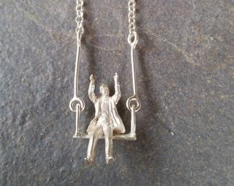 columpio / swing / miniature / miniatura / silver / plata /colgante / pendant