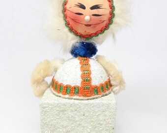 1930's German Eskimo Candy Container, Bobble Head, Hand Painted