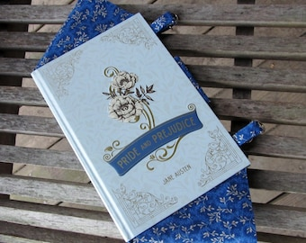 Pride and Prejudice by Jane Austen - Light Blue Book Purse - Made to Order