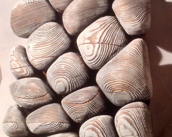 Wooden 3D Rock Wall Decoration - Natural and Handmade