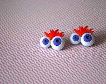 Eye Earrings -- Eyeball Earrings, Halloween Earrings, Earrings for Optometrist, Halloween