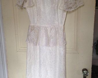 Vintage 80's Peplum dress