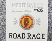 Road Rage Merit Badge