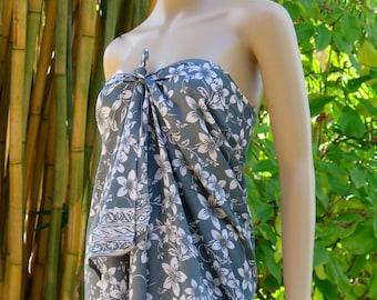 Grey Sarong, Swimsuit cover up, Beach Sarong, Pareo
