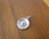 Sterling silver vintage sombrero hat charm.