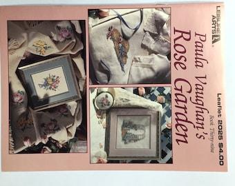 Paula Vaughan's Rose Garden Cross Stitch Leaflet 2025